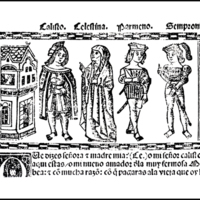 Engraving of act VI from the Valencia edition (1514)
