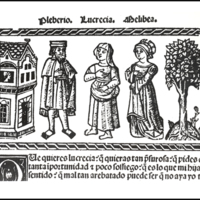 Engraving of act XX from the Valencia edition (1514)