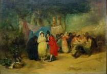 Young Woman and Celestina at the Pilgrimage (Maja y celestina en la romería), by Pérez Rubio (1850 c.)