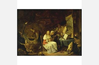 Incantation Scene, by Teniers (1650 c.)