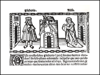 Engraving of Act XXI from the Valencia edition (1514)