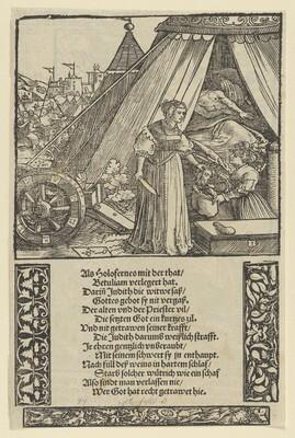 Judith with the Head of Holophernes, by Schäufelein (1533)
