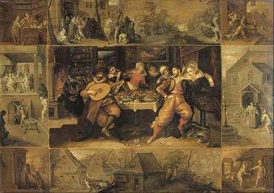 La historia del hijo pródigo, de Francken (1610 c.)