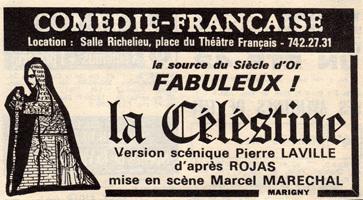 Representación del Comédie-Française, París, de Maréchal (1975)