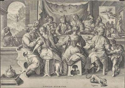 Return of Tobias, by van de Passe (1584 c.)