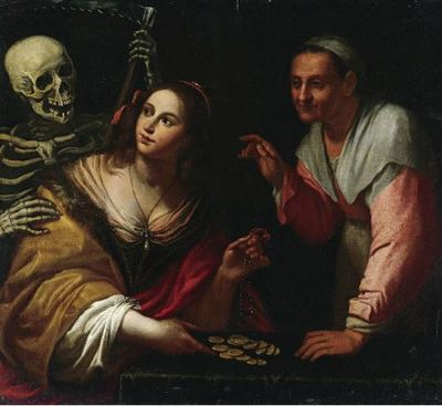 Vanitas, allegory of ages, by Martinelli (1650 c.)