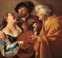 The Matchmaker, by Baburen (1622)
