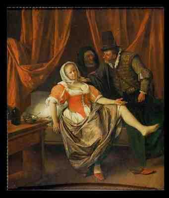 La moza del prostíbulo, de Steen (1660)