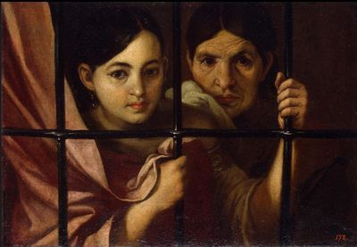 Celestina and her daughter in prison or Two women by a window by Murillo, (Atributed, 1645 c.)