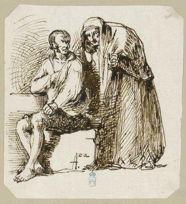 Old celestina, by Alenza (c. 1830)