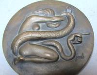 Medal from the Fábrica Nacional de Moneda y Timbre, by Manuel Prieto (1957).