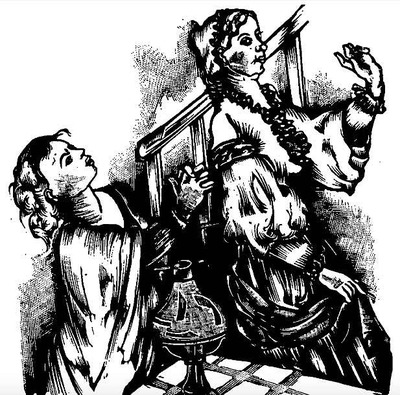 Pleading with Celestina, by Gelabert (1945)