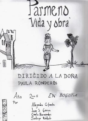 Pármeno, life and work (Pármeno, vida y obra), cover drawing, various artists (2008)