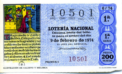 Spanish National Lottery Ticket (1974)