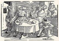 Matchmaker School (Schule der Kupplerin), by Schoen (1531).