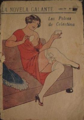 Celestina's Powder (Los polvos de Celestina), cover of an issue of La novela galante (1925 c.)