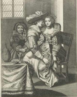The procuress, by de Isaac (1627 c.)