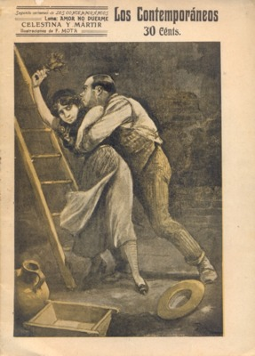 Celestina and martyr, cover illustration, 1912.