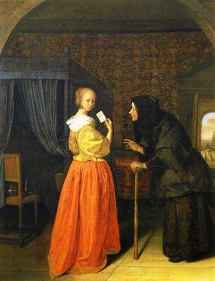 Betsabé con una carta de David, de Steen (1659)